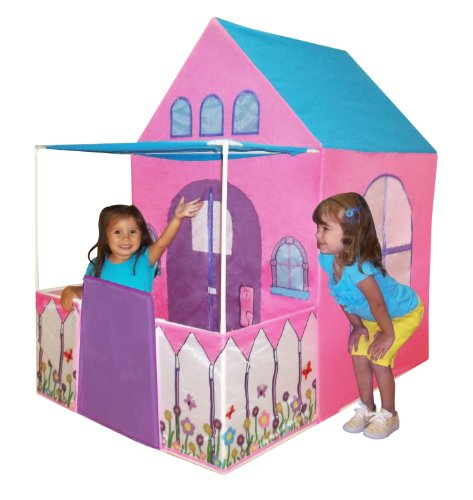 Playhouse Victoriano tienda de castillo de princesas Play con Cercado Patio Por Kids Aventura