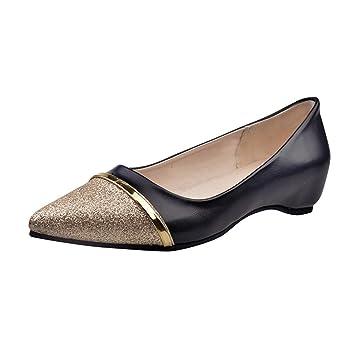 Zapatos de mujer , ❤️Amlaiworld Zapatos planos de tacón bajo de mujer Zapatos informales de