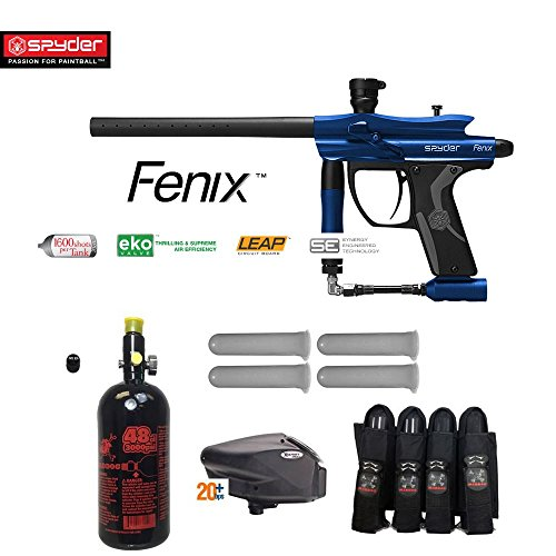 MAddog Spyder Fenix Advanced Paintball Gun Package - Blue ()
