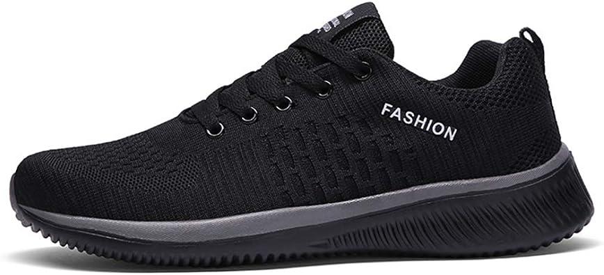 Zapatillas de Running para Hombre Zapatillas de Deporte cómodas de Malla Transpirable Zapatillas Deportivas Ligeras Antideslizantes para Deportes al Aire Libre: Amazon.es: Zapatos y complementos