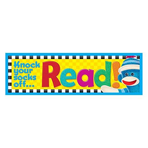 Trend Enterprises Bookmarks - Trend Enterprises Knock Your Socks Off Read! Sock Monkeys Bookmarks (36 Piece), Multi