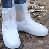 ARUNNERS White Snow Rain Boots Shoes Covers Galoshes Overshoes Women - XL