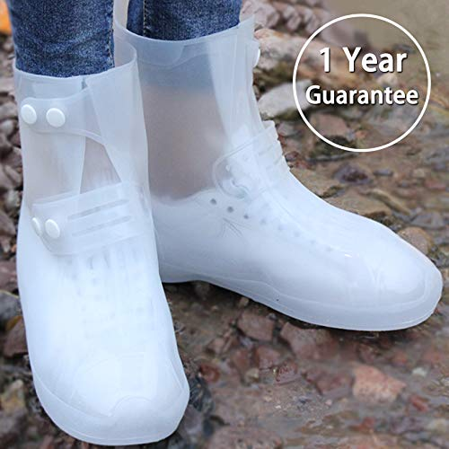 ARUNNERS White Snow Rain Boots Shoes Covers Galoshes Overshoes Women - 2XL by ARUNNERS