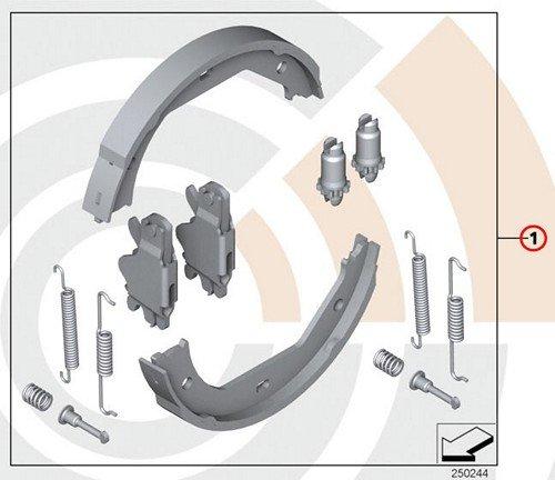 BMW Genuine Service Kit Repair Set For Brake Shoes E46 320i 323Ci 323i 325Ci 325i 328Ci 328i by BMW