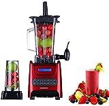 Ovente BLH1000R 1000 Watt Robust Professional Blender with BPA Free 50oz Blender Jar, Travel Mug and Tamper, Red