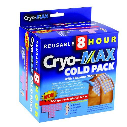 (CryoMAX Cold Pack, Reusable, Latex Free, 8 Hour Cold Therapy, Professional Series, T-Shape (1 Count) )