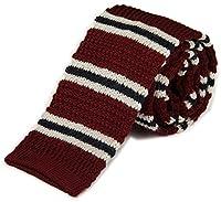 Tigre Amore Men's Skinny Knit Tie Border Patterned