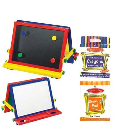 Melissa & Doug Table-Top Easel with Easel Pad and Crayons