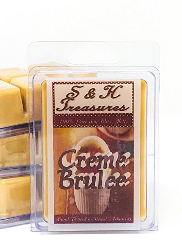 - Creme Brulee - Pure Soy Wax Melts - Food Scents - 1 pack (6 cubes)