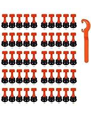 Tegel Levelers Herbruikbaar, 50 stuks tegelnivellering System Kits, tegelafstandhouder voor keramiek, doe-het-zelf gereedschap