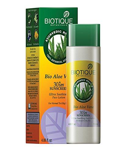 Biotique Bio Aloe Vera Face & Body Sun Lotion Spf 30 Uva/Uvb Sunscreen For Normal To Oily Skin In#