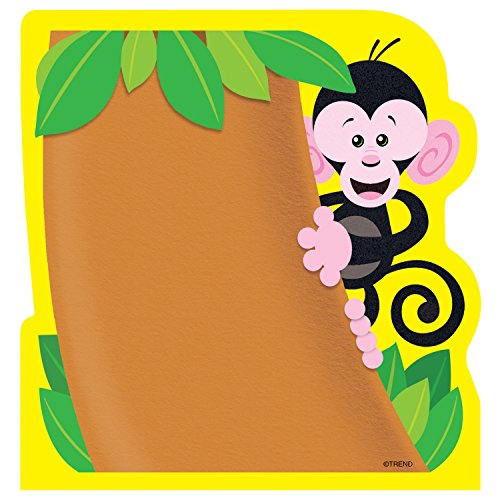 TREND T72067 Note Pad with Monkey Design, 5 x 5, 50 Sheets, Each (TEPT72067)