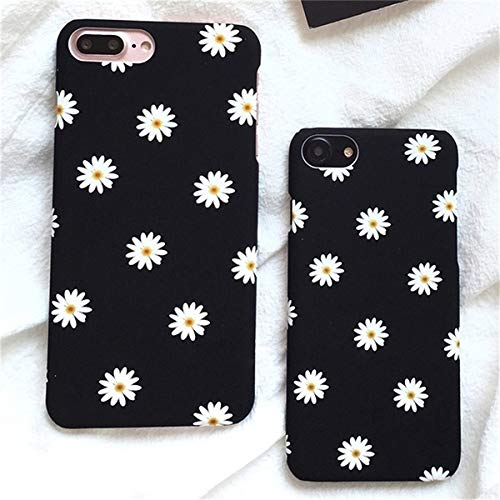 shoppingmal Fashion Pattern Daisy Flowers Hard Plastic Phone Case Cover Skin for iPhone 6 6s Plus 7 Plus (Black,iPhone 8 Plus) - Pattern Hard Plastic Mobile