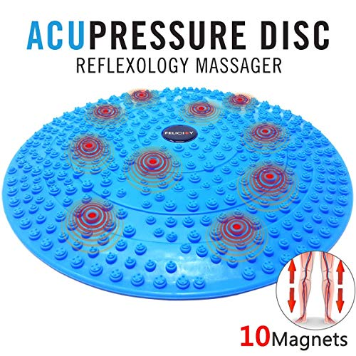 - Felicity Acupressure Disc Mat Reflexology Foot Massager with Magnetic Therapy for Relieve Plantar Fasciitis, Heel, Foot Arch Pain & Stress Perfect Gift Idea