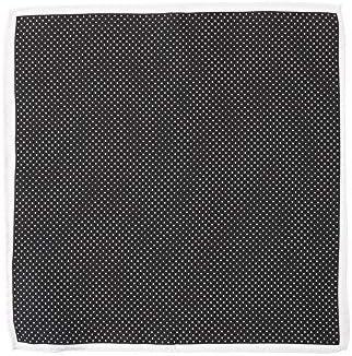 (ザ・スーツカンパニー) ドットプリント シルクポケットチーフ ブラック×ホワイト
