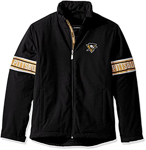 NHL Pittsburgh Penguins Men's Tundra Team Text Jacket, Medium, Black - Pittsburgh Penguins Jacket