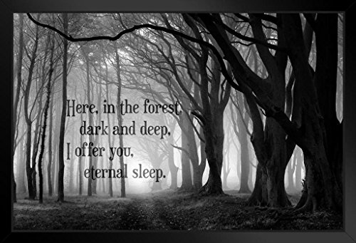 Here in The Forest Dark and Deep I Offer You Eternal Sleep Art Print Framed Poster 14x20 -