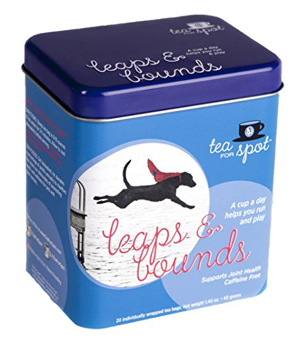 - Tea for Spot Leaps and Bounds - Joint Health Herbal Tea for Dogs with Rooibos, Green Tea, Bone Broth, Tart Cherries and Turmeric