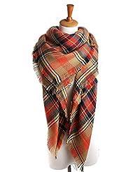American Trends Fashion Soft Warm Tartan Scarf Large Wrap Shawl Color2