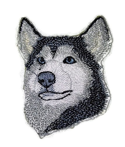 Siberian Husky Embroidery (Amazing [Siberian Husky Dog Face ] Embroidery Iron On/Sew patch [4