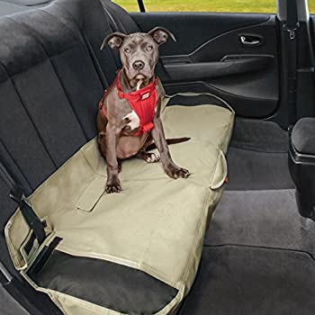 Kurgo Shorty Car Bench Seat Cover Hampton Sand Khaki Waterproof Stain Resistant