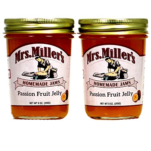 Mrs. Miller's Amish Made Passion Fruit Jelly ~ 2 / 9 Ounce Jars (Passion Fruit Tart)