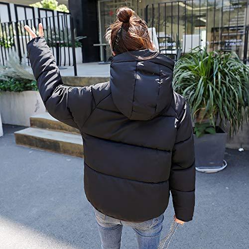 Femme Noire Hiver Pour Matelassée Veste Noir Avec Blanche Femmes D'hiver Jaune Capuche Rose Gris REwqX8w