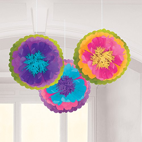 Mad Tea Party Flower Fluffy Decorations, 3