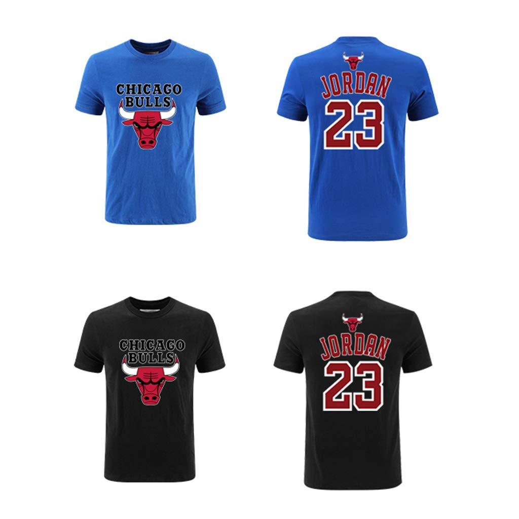 Equipo Chicago Bulls Logo Manga Corta Camisetas Deportes Jordan Baloncesto Camisetas Tops