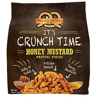 Tell City Honey Mustard Flavored Pretzel Pieces - Homestyle Crunchy Hard Pretzels - Honey Mustard, 12 oz
