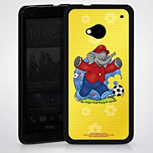 Carcasa Design Funda para HTC One M7 HardCase black - Benjamin Blümchen - Fussballstar