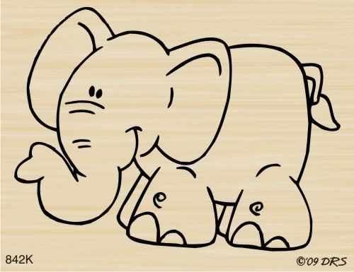 Jungle Jim the Elephant Rubber Stamp By DRS Designs