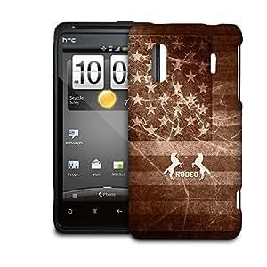 Phone Case For HTC Evo Design 4G / Hero 4G - Vintage Rodeo Rustic Lightweight Wrap-Around