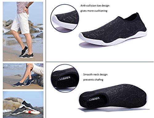Quick Coleath Men Swim Black3 Shoes Barefoot Women Dry Water Shoes Lightweight Skin UU7C1Rxqw