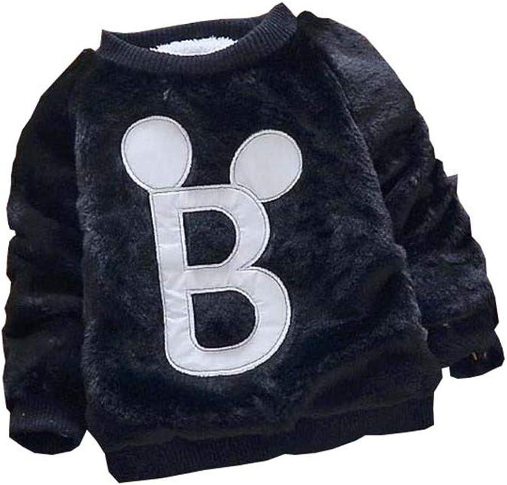 Amazon.com: Winter Baby Boys Sweaters Kids Cute Cartoon Velvet Sweater  Children Warm Pullover Sweaters Boy Jacket(Black,12months): Clothing