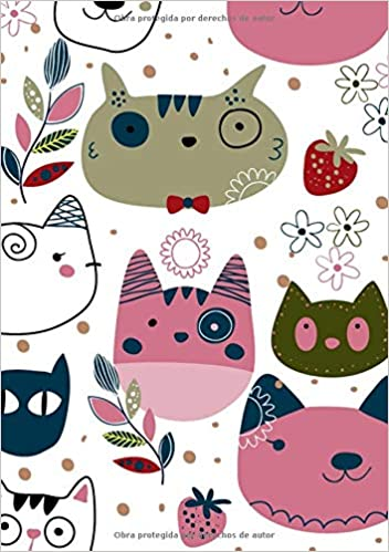 Libretas de Puntos: Cuadernos con Puntos, Cuaderno A5 Puntos, Cuaderno Dot, Cuaderno Dot Grid - Cuaderno Gato #6 - Tamaño: A5 (14.8 x 21 cm) - 110 . ...