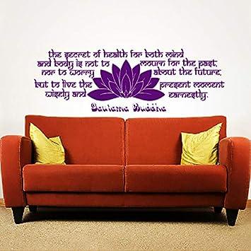 Cabecero loto etiqueta de la pared para sala de estar Buda ...