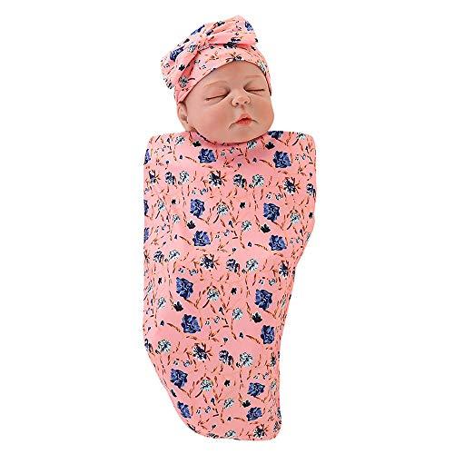 Para Manta Bebés Suave Diadema Wrap Recién Saco De B Sleeping Capa Nacido 2pcs Amphia Swaddle Bebé Conjunto Rosado Dormir Cartoon wIPxFR