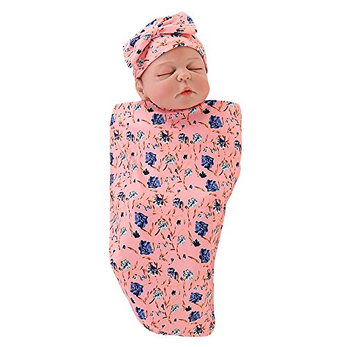 Saco Dormir Suave 2pcs Diadema B Wrap De Sleeping Bebé Capa Manta Amphia Recién Conjunto Bebés Nacido Rosado Para Cartoon Swaddle qngBw6O1q