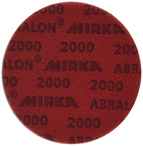 Mirka 8A-241-2000 Abralon 2000 Grit Foam Backed Velcro Hook Polishing & Buffing Discs, 6 Inch, 20 Discs (Sanding A Bowling Ball For More Hook)