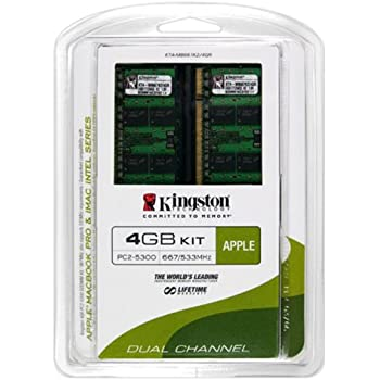 Kingston Apple 4GB Kit (2x2GB Modules) 667MHz DDR2 SoDimm iMac and Macbook Memory (KTA-MB667K2/4GR)