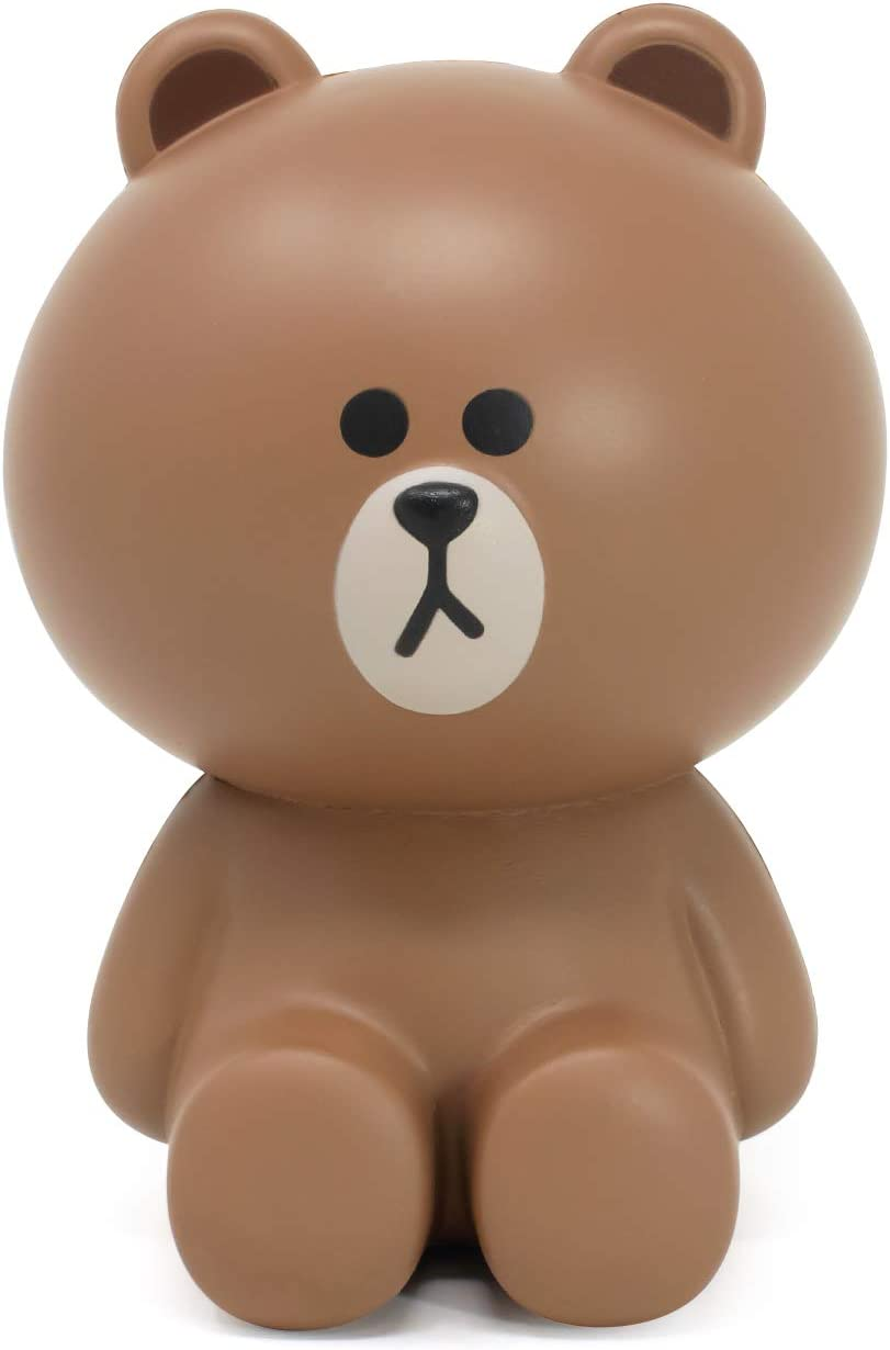 Hamee LINE Friends Cute Slow Rising Jumbo Brown Bear Squishy Toy [Birthday Gift Bags, Party Favors, Gift Basket Filler, Stress Relief Toys]