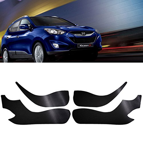 Carbon Door Protect Anti Scratch Cover Kick Fabric Decal Sticker Carbon Black For HYUNDAI Tucson Ix35 2010 2011 2012 - Car Scratches Easy Way To Out Get Of