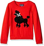The Children's Place Little Girls' Graphic Knit Sweater, China Red 69349, Small/5/6