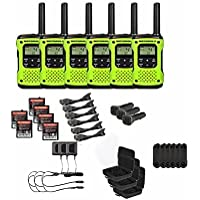 Motorola Talkabout T605 Two-Way Radios / Walkie Talkies - Rechargeable & Fully Waterproof 6 PACK