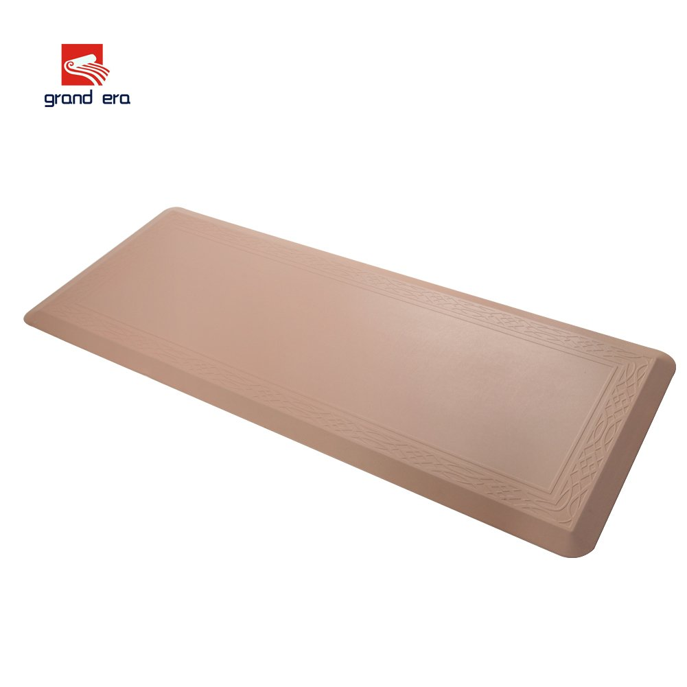 Grand Era Anti-Fatigue Kitchen Comfort Non-Slip Floor Mat, Perfect for Kitchen and Workstations, 18 x 59, Beige 18 x 59 KYFBE45150