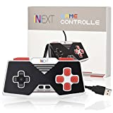 [Newest Version] iNNEXT SNES Retro USB Super Nintendo Controller, USB PC Controller, Raspberry Pi Controller for Windows PC / MAC / Raspberry Pi (Red)