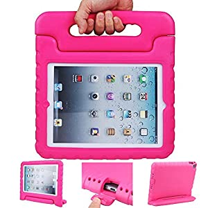 iPad mini case, ANTS TECH Light Weight [ Shockproof ] Cases Cover with Handle Stand for Kids Children for iPad mini 3 & iPad mini 2 & iPad mini (iPad Mini 123, Pink)