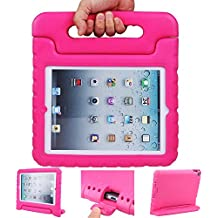 iPad case, iPad 2 3 4 Case, ANTS TECH Light Weight [ Shockproof ] Cases Cover with Handle Stand for Kids Children for iPad 2 & iPad 3 & iPad 4 (iPad 234, Pink)