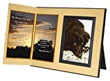 ''Her Journey's Just Begun'' Pet Loss Sympathy Picture Frame Gift and Memorial , with optional custom photo editing, Ginger with Foil Accent